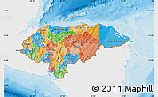 Political Map of Honduras, single color outside