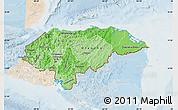 Political Shades Map of Honduras, lighten