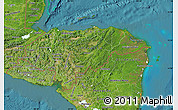 Satellite Map of Honduras
