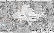Gray 3D Map of Ocotepeque