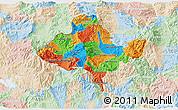 Political 3D Map of Ocotepeque, lighten