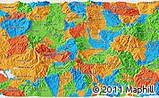 Political 3D Map of Ocotepeque