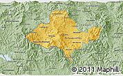 Savanna Style 3D Map of Ocotepeque