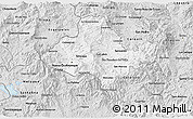 Silver Style 3D Map of Ocotepeque