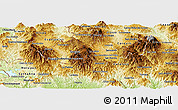 Physical Panoramic Map of Ocotepeque