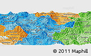 Political Shades Panoramic Map of Ocotepeque