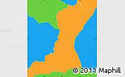 Political Simple Map of Mangulile