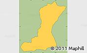 Savanna Style Simple Map of Mangulile, cropped outside