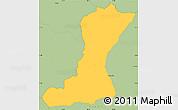 Savanna Style Simple Map of Mangulile