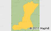 Savanna Style Simple Map of Mangulile, single color outside