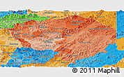 Political Shades Panoramic Map of Olancho