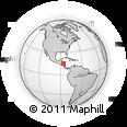 Outline Map of San Francisco De La Paz
