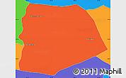 Political Simple Map of San Francisco de La Paz