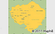 Savanna Style Simple Map of Olancho, single color outside