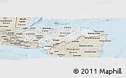 Classic Style Panoramic Map of Honduras