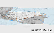 Gray Panoramic Map of Honduras