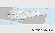 Gray Panoramic Map of Honduras, single color outside