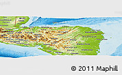 Physical Panoramic Map of Honduras