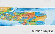 Political Panoramic Map of Honduras