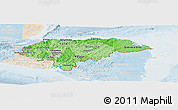 Political Shades Panoramic Map of Honduras, lighten