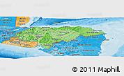 Political Shades Panoramic Map of Honduras