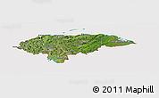 Satellite Panoramic Map of Honduras, cropped outside