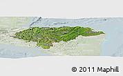 Satellite Panoramic Map of Honduras, lighten