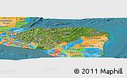 Satellite Panoramic Map of Honduras, political outside, satellite sea