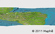 Satellite Panoramic Map of Honduras