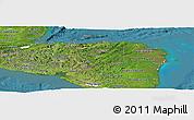 Satellite Panoramic Map of Honduras