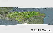 Satellite Panoramic Map of Honduras, semi-desaturated
