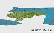 Satellite Panoramic Map of Honduras, single color outside