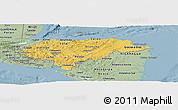 Savanna Style Panoramic Map of Honduras