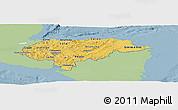 Savanna Style Panoramic Map of Honduras, single color outside