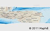 Shaded Relief Panoramic Map of Honduras