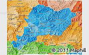 Political Shades 3D Map of Paraiso