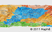 Political Shades Panoramic Map of Paraiso
