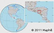Gray Location Map of Soledad
