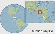 Savanna Style Location Map of Soledad, hill shading