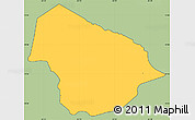 Savanna Style Simple Map of Soledad, cropped outside