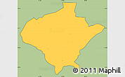Savanna Style Simple Map of Texiguat, cropped outside