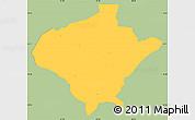 Savanna Style Simple Map of Texiguat, single color outside