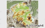 Physical 3D Map of Santa Barbara, semi-desaturated