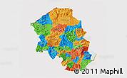 Political 3D Map of Santa Barbara, cropped outside
