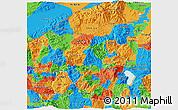 Political 3D Map of Santa Barbara