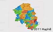 Political 3D Map of Santa Barbara, single color outside
