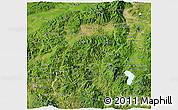 Satellite 3D Map of Santa Barbara