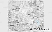 Silver Style 3D Map of Santa Barbara