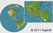 Satellite Location Map of Petoa