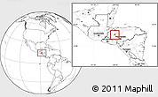 Blank Location Map of San Pedro Zacapa